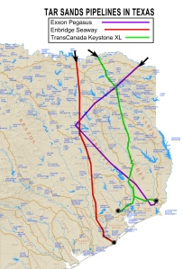 Pipelines crossing watersheds